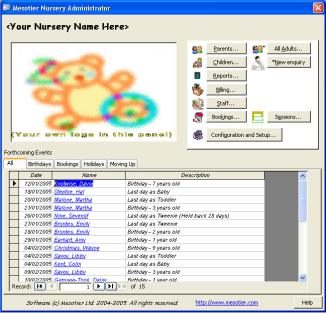 Nursery Administrator front page